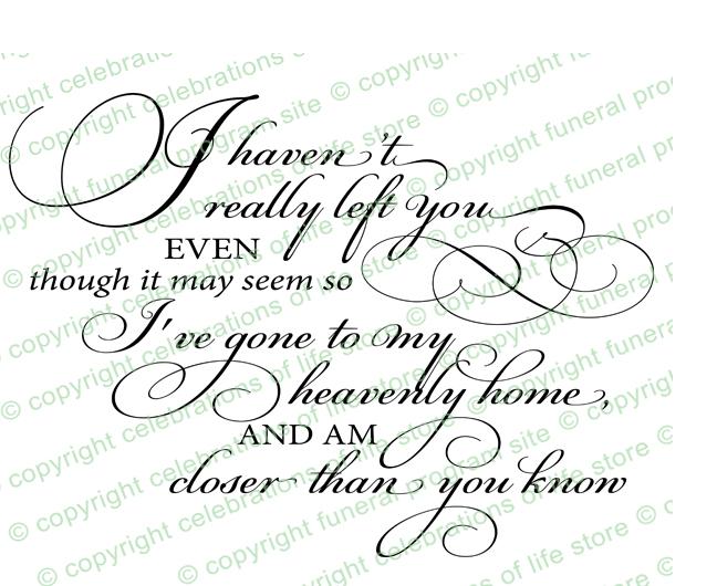 i haven t really left you funeral poem word art design I AM DD i haven t really left you funeral poem word art