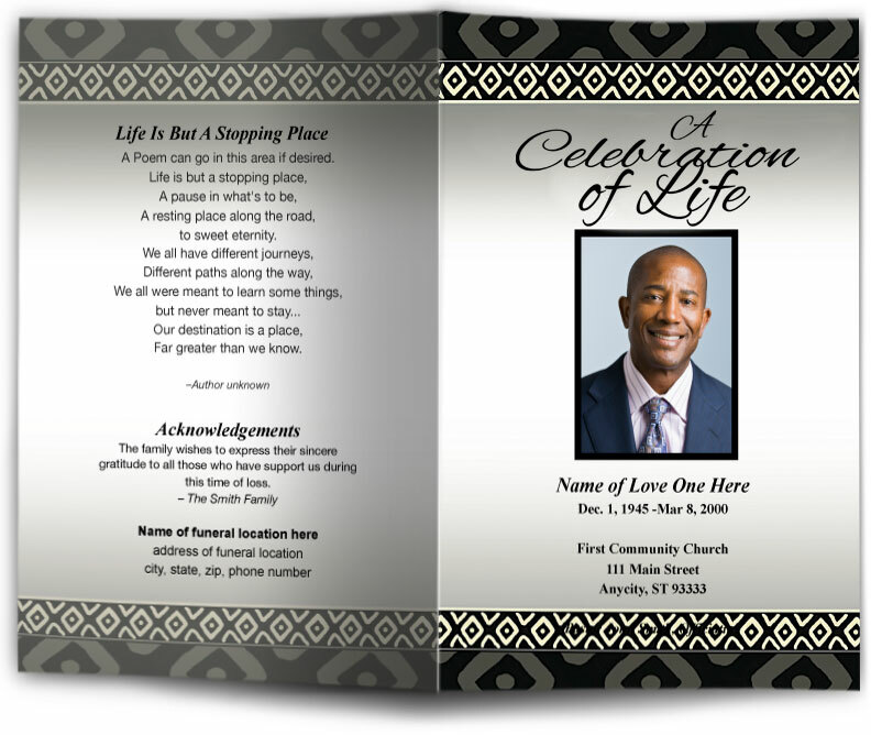 Funeral Program Template | Nigeria Funeral Program Template Diy Funeral Programs