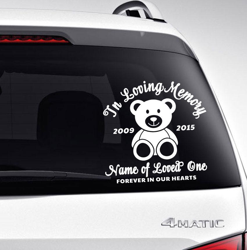 In Loving Memory Car Decals >> Bear In Memory Car Decals Funeral Program Site