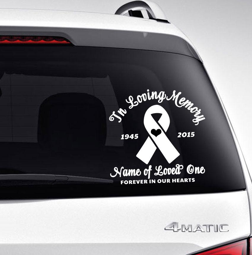 In Loving Memory Car Decals >> Ribbon In Memory Car Decals Funeral Program Site