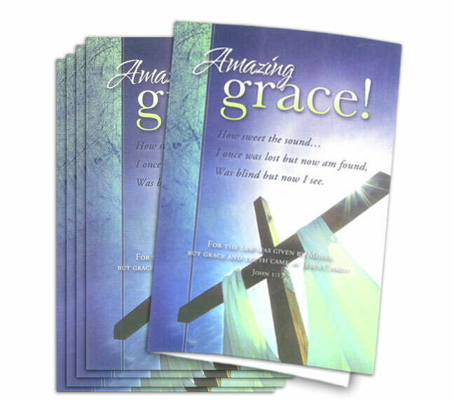 amazing grace funeral program paper funeral program site