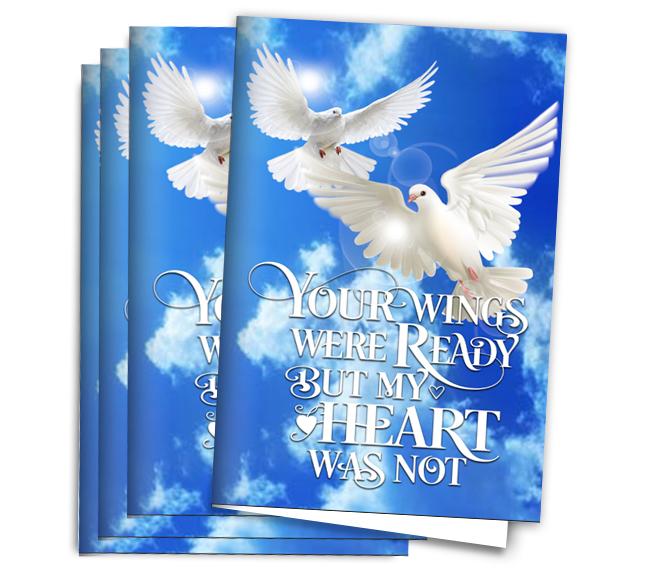 your wings funeral program paper funeral program site
