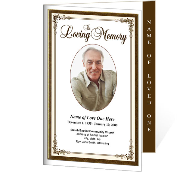 Creative 4 Sided Graduated Funeral Program Template