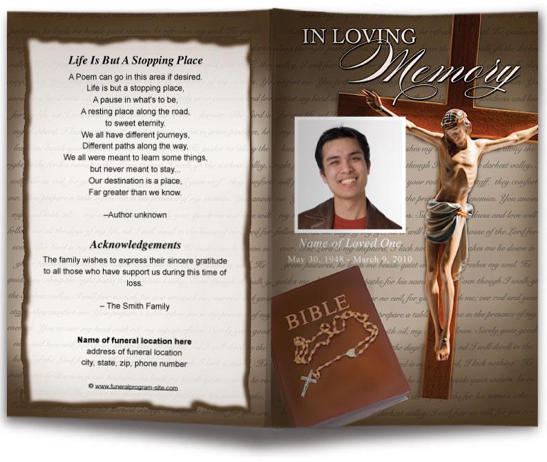 Rosary Funeral Program Template Diy Funeral Programs