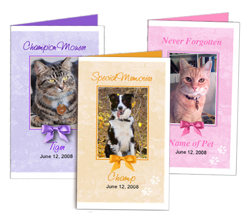 Pet Memorial Folded Cards height=