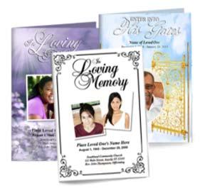 custom funeral programs