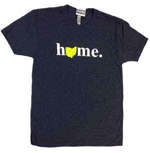 Ohio Home T-Shirt - Navy tri-blend