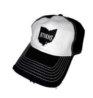 Athens Distressed Cotton Trucker Hat