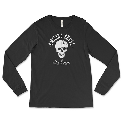 Smiling Skull Saloon Long-Sleeved T-Shirt