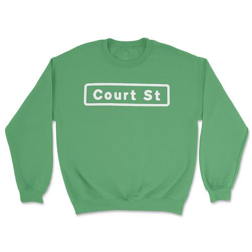 Court Street Sign Crewneck Sweatshirt