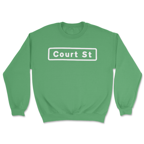 Court Street Sign Crewneck Sweatshirt