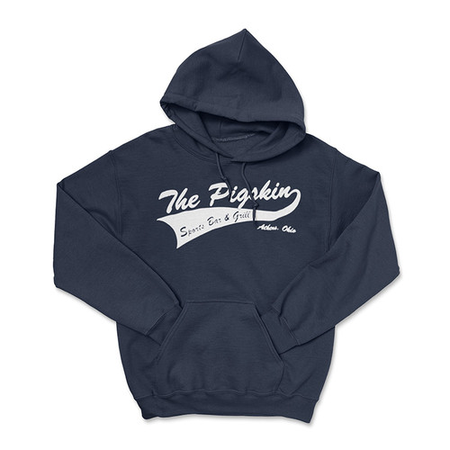 The Pigskin Classic Logo - Blue  Hoodie