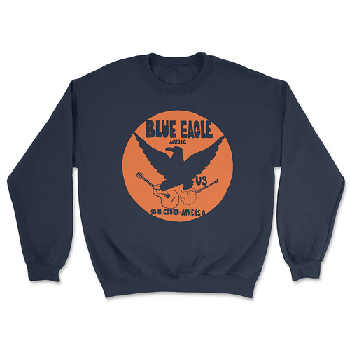 Blue Eagle Music Navy Blue Crewneck Sweatshirt