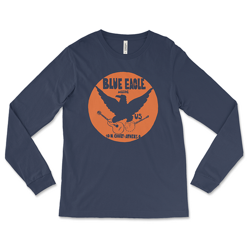 Blue Eagle Music Navy Blue Long-Sleeved T-Shirt