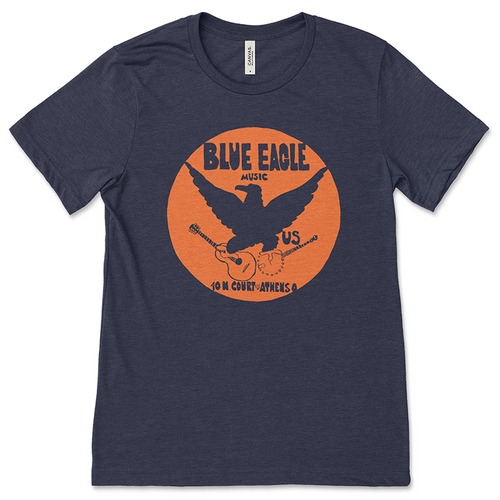 Blue Eagle Music Navy Blue One-Color T-Shirt