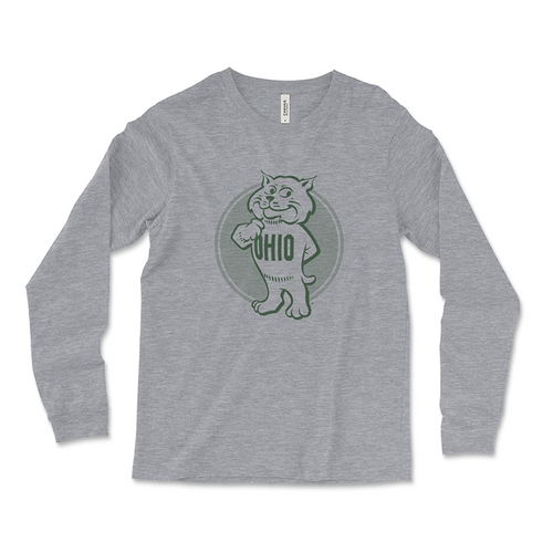 Ohio University Long Sleeve Retro Rufus T-Shirt