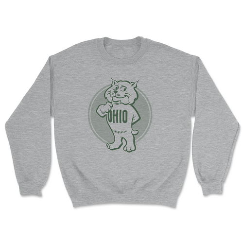 Ohio University Retro Rufus Crewneck Sweatshirt