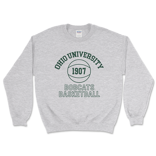 Bobcat Basketball Crewneck Sweatshirt