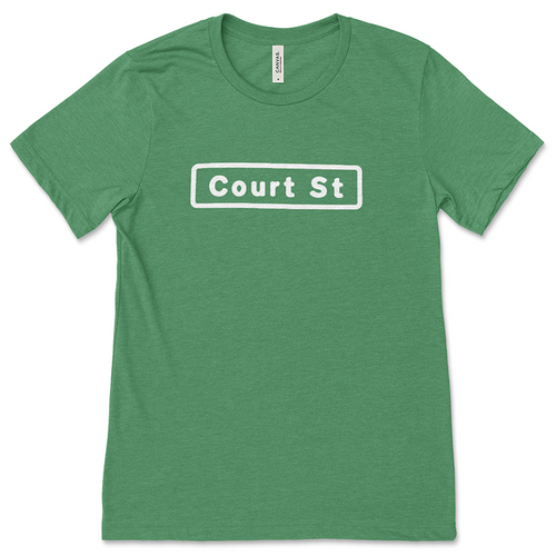 Green Court Street Sign T-Shirt