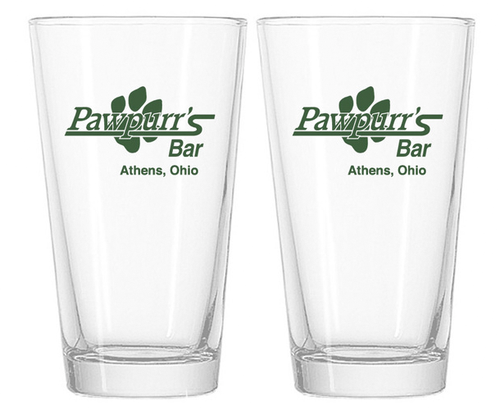 Set of Pawpurr's Pint Glasses - Athens, Ohio