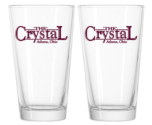 The Crystal Pint Glasses
