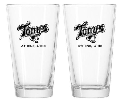 Tony's Pint Glasses, Athens Ohio