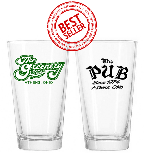 Greenery & The Pub Pint Glasses