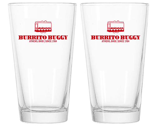 Burrito Buggy Pint Glasses - Set of 2