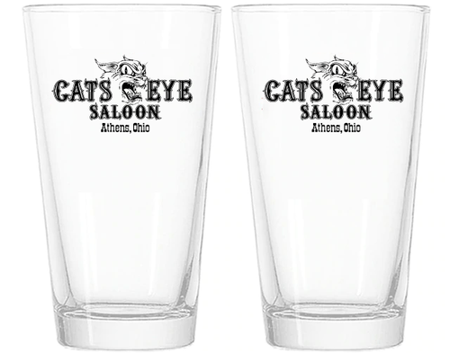 Cats Eye Saloon Pint Glasses - Set of 2