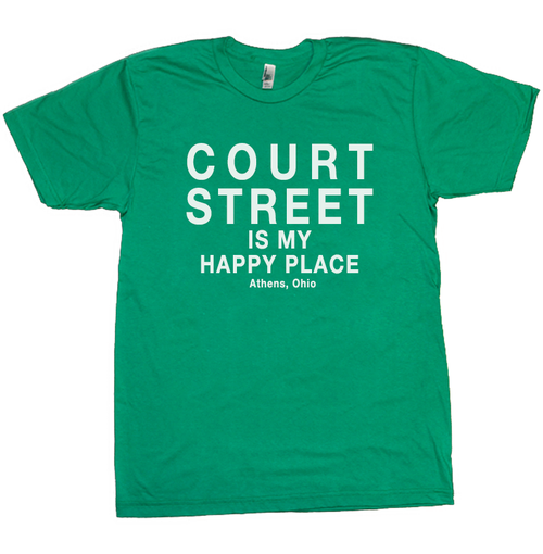 Court Street Is My Happy Place T-Shirt, Athens, Ohio