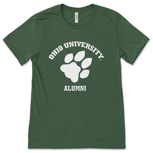 Ohio University Alumni Classic Paw Print Green T-Shirt