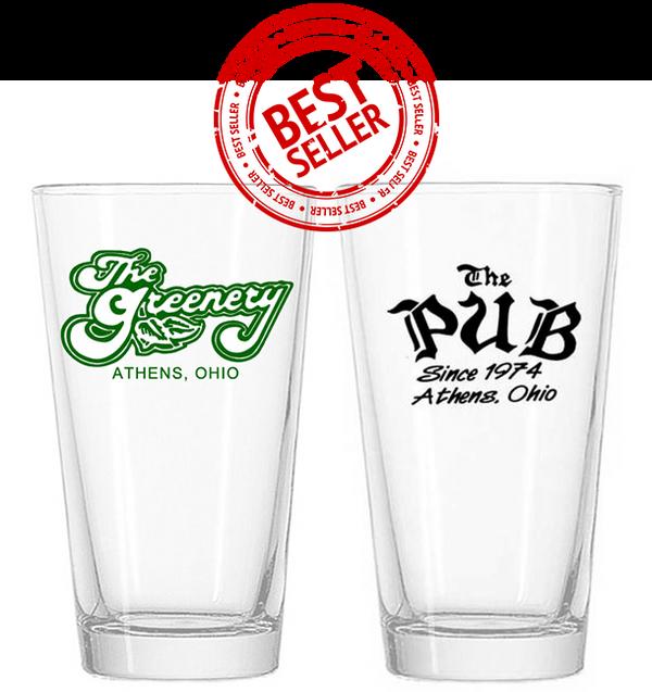 Greenery & The Pub Pint Glasses