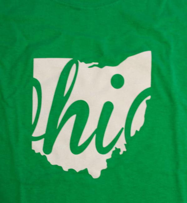 Irish Green Ohio Shirt, detail