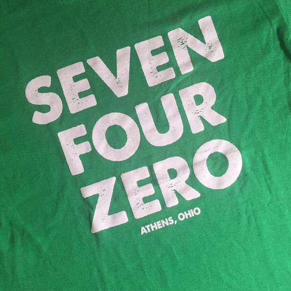 Seven Four Zero print detail, Athens, Ohio
