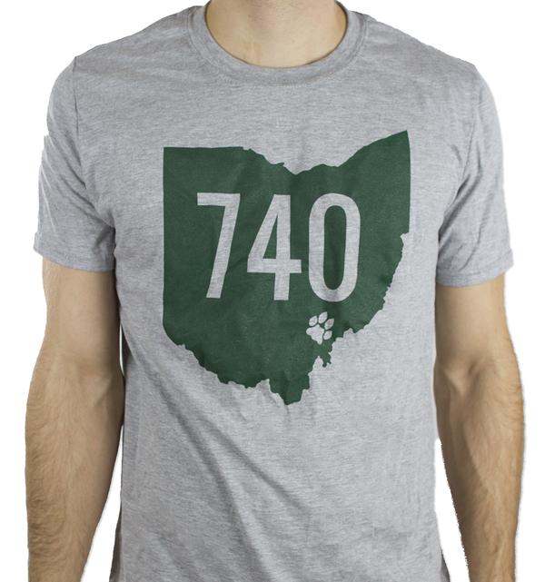 740 Athens Ohio Pawprint T-Shirt