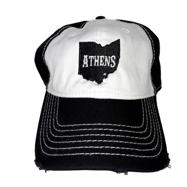 Athens Distressed Trucker Hat - Precision Imprint