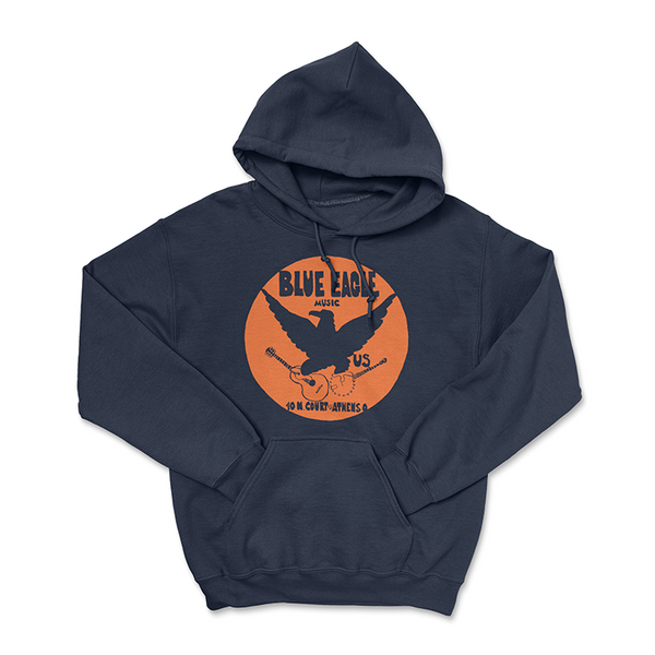 Blue Eagle Music - One Color - Navy Blue Hoodie