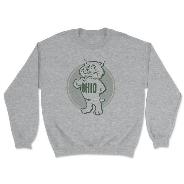 Ohio University Retro Rufus Crewneck Sweatshirt