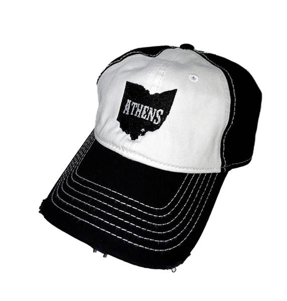 Athens Distressed Cotton Trucker Hat