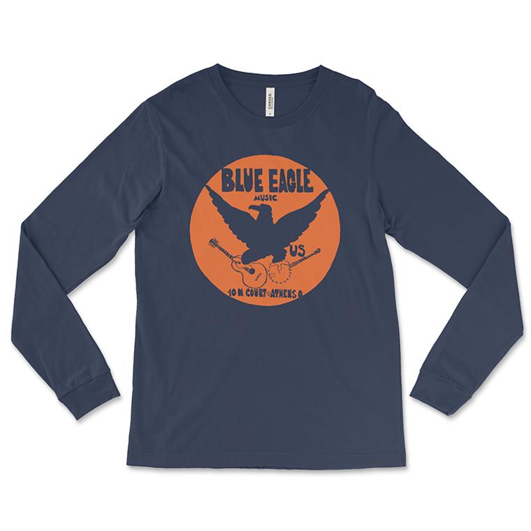 Blue Eagle Music Navy Blue Long-Sleeved T-Shirt