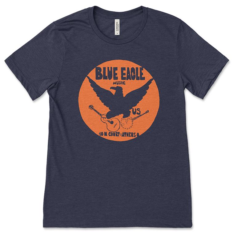Blue Eagle Music Navy Blue One-Color T-Shirt