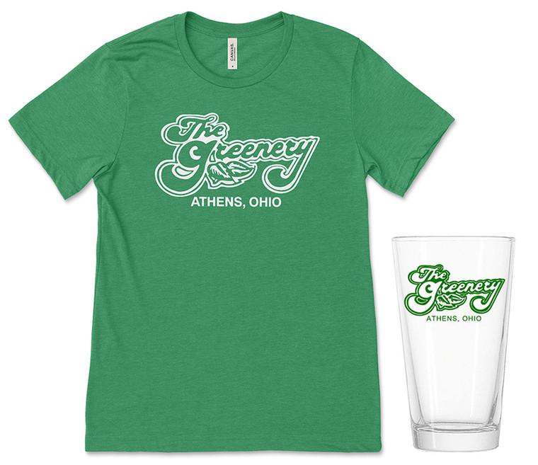 The Greenery T-Shirt & Pint Glass Bundle