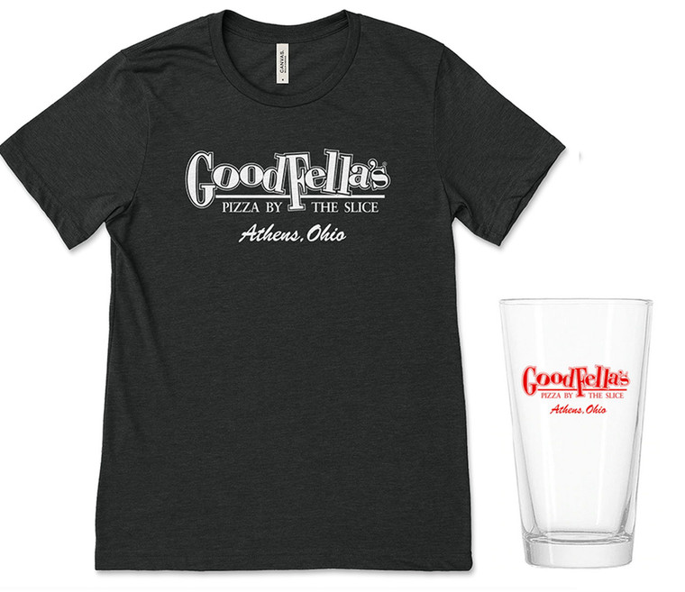 GoodFella's Pizza T-Shirt & Pint Glass Bundle
