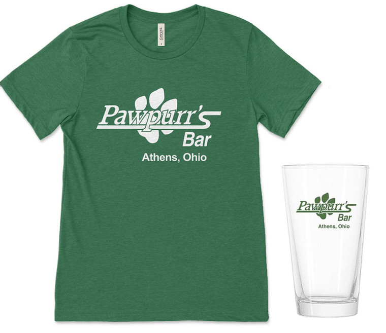 Pawpurr's T-Shirt & Pint Glass Bundle
