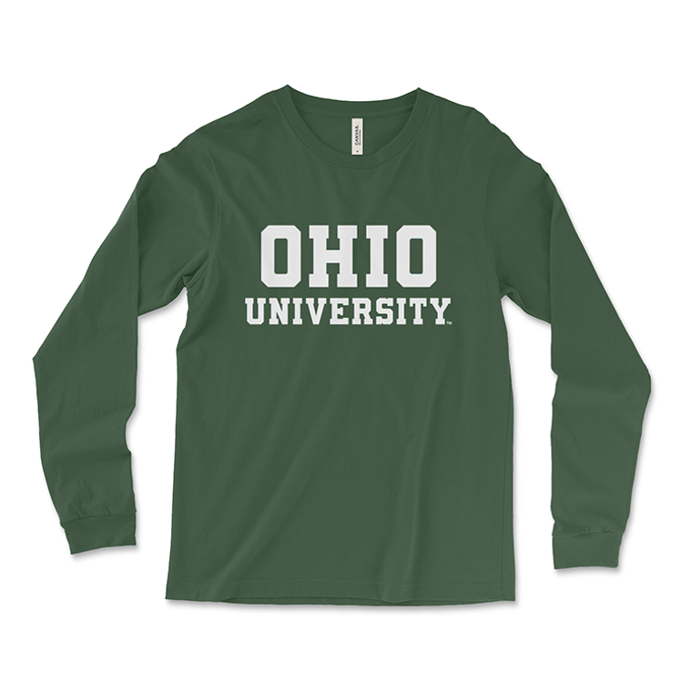 Ohio University Long Sleeve Classic Green T-Shirt