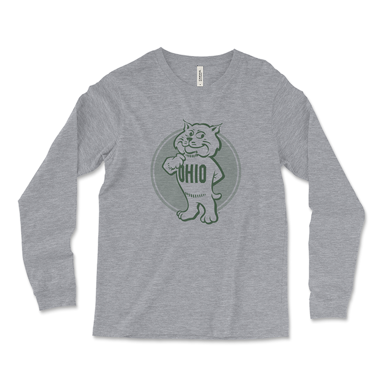 Ohio University Long-Sleeved Retro Rufus T-Shirt