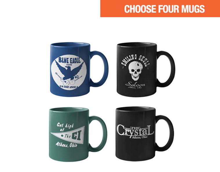 Coffee Mugs  - Mix & Match - Set of 4