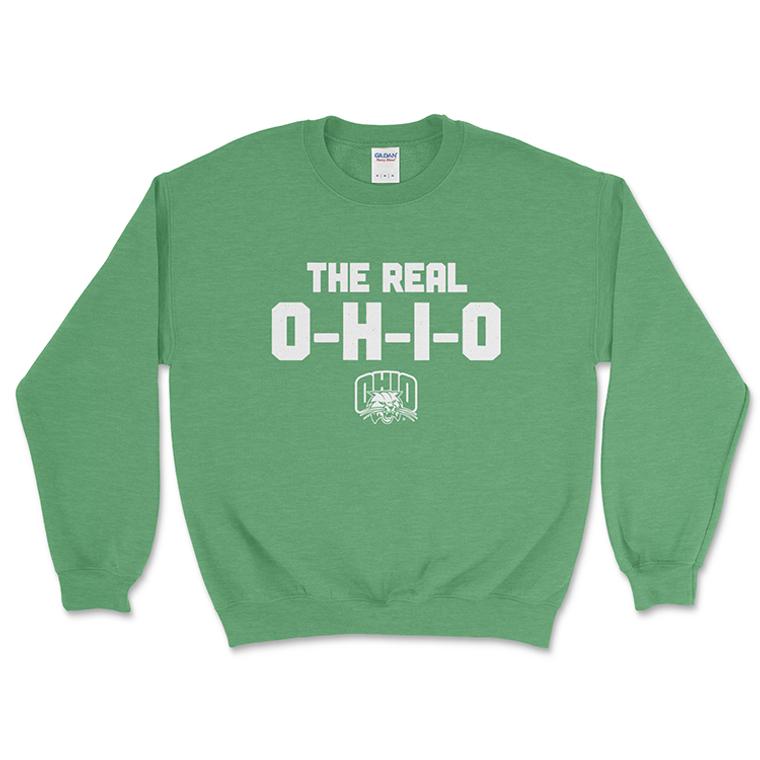 The Real OHIO    Ohio University Crewneck Sweatshirt