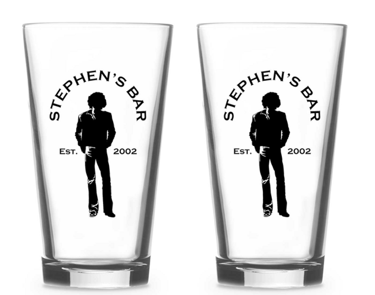 Stephen's Pint Glasses - Set of 2