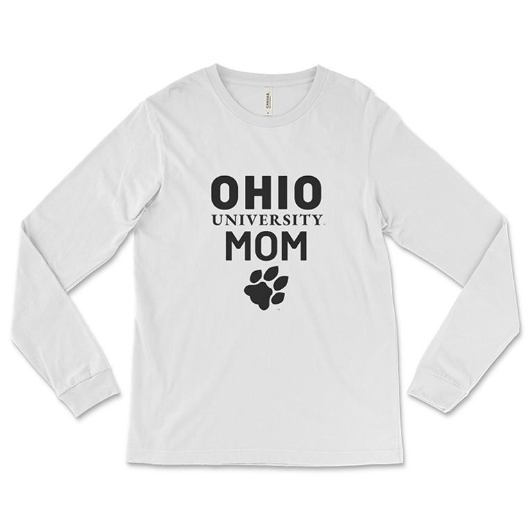Ohio University Mom Long-Sleeve Paw T-Shirt